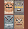 work tools of construction house repair or mining vector image vector image