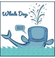 world whale day vector image vector image
