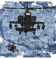 Army grunge background with helicopter vector image