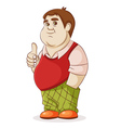 fat man on a white background vector image