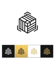 Block or cube 3D structure icon vector image