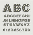 font with lamps on gray background vector image