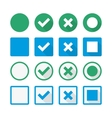 Marks Icons with shadows vector image