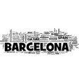 a country within a country travel to barcelona vector image vector image