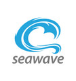 abstract blue sea wave logo concept design vector image vector image
