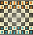 abstract chess vector image