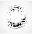 abstract dotted circles halftone dotted vector image