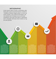 Abstract infographic chart vector image vector image