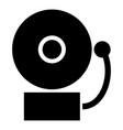 alarm schooll bell icon black color flat style vector image vector image