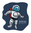 astronaut drawn vector image