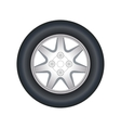Automobile wheel vector image