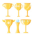 award cups made of gold set vector image vector image