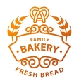 Bakery badge and logo icon vector image