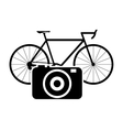 bike or bicycle and camera icon vector image vector image