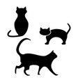 black of cat of the helloween icons vector image vector image