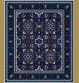 blue template for carpet vector image vector image