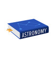 book on astronomy with bookmark vector image vector image