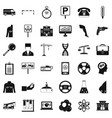 business parking icons set simple style vector image vector image