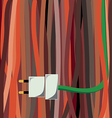 cable plug vector image vector image