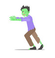 cartoon character zombie man vector image