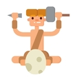 Caveman primitive stone age people vector image vector image