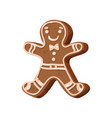 christmas gingerbread man traditional festive vector image