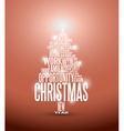 christmas tree typography vector image vector image