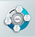 circle infographic template four option process vector image
