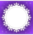 Circle Violet Background New Year Snow Snowflake vector image vector image