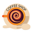 coffee shop coffee cup spoon background ima vector image