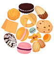 cookies pastry pattern flat vector image vector image