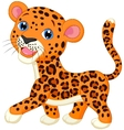 Cute baby leopard cartoon vector image vector image