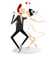 dancing married wedding couple vector image vector image