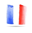 Emblem of the French flag vector image vector image