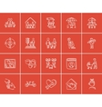 Family sketch icon set vector image