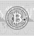 finance bitcoin background gray vector image