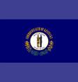 flag usa state kentucky vector image vector image