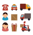 Free delivery and shipping vector image