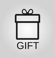 gift icon gift symbol flat design stock vector image