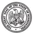 great seal state mississippi vintage vector image vector image