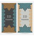 greeting card for muslim festival eid mubarak vector image vector image