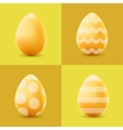Happy Easter set with colored eggs vector image