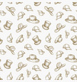 hats seamless background pattern hand vector image vector image