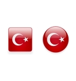 Icons with Turkish flag vector image vector image