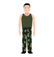 isolated soldier avatar vector image