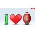 Love football inscription vector image