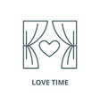 love time line icon linear concept vector image vector image