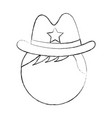 male sheriff avatar character vector image vector image