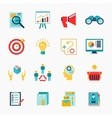 Marketers flat icon vector image
