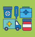 medical related icons vector image vector image